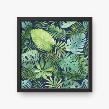 Verschiedene tropische Blätter als Hintergrund