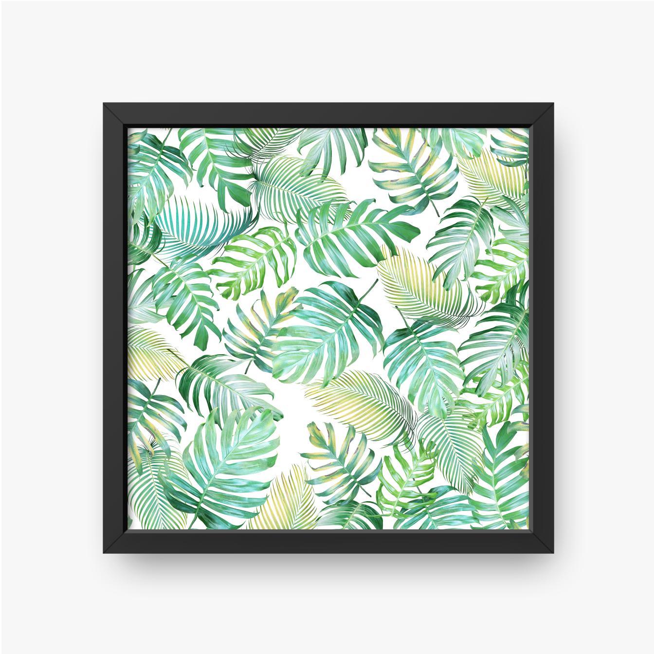 Tropikalne liście bez szwu wzór z monstera i liści palmowych w jasnym zielono-żółtym tonie kolorystycznym