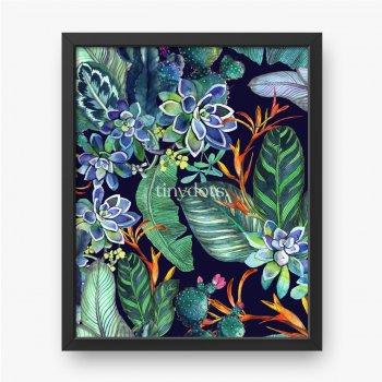 Blätter kombiniert mit blauen Blüten