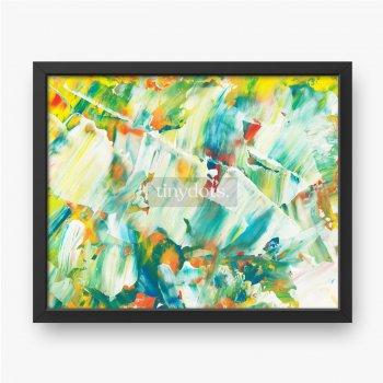 Hand gezeichnete Acrylmalerei, abstrakte Kunst, Paletten