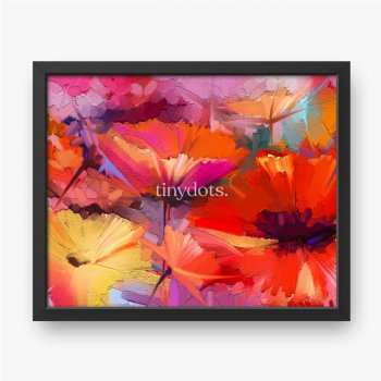 Abstraktes buntes Öl, Acrylmalerei der Frühlingsblume, handgemalter Pinselstrich