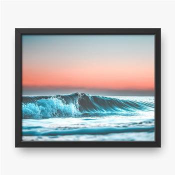 Welle bei Sonnenuntergang