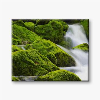 Leinwandbilder Ein wunderschöner fließender Wasserfall zwischen den Steinen