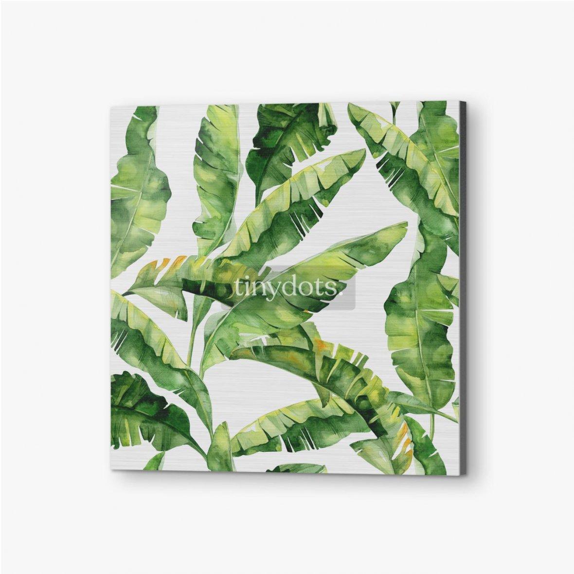 Bilder auf Alu-Dibond Tropische Monsterblätter