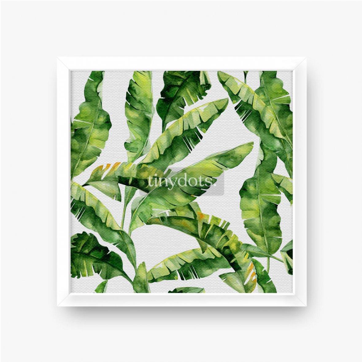 Gerahmte Leinwandbilder Tropische Monsterblätter