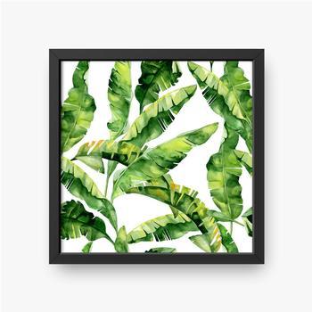 Gerahmte Poster Tropische Monsterblätter