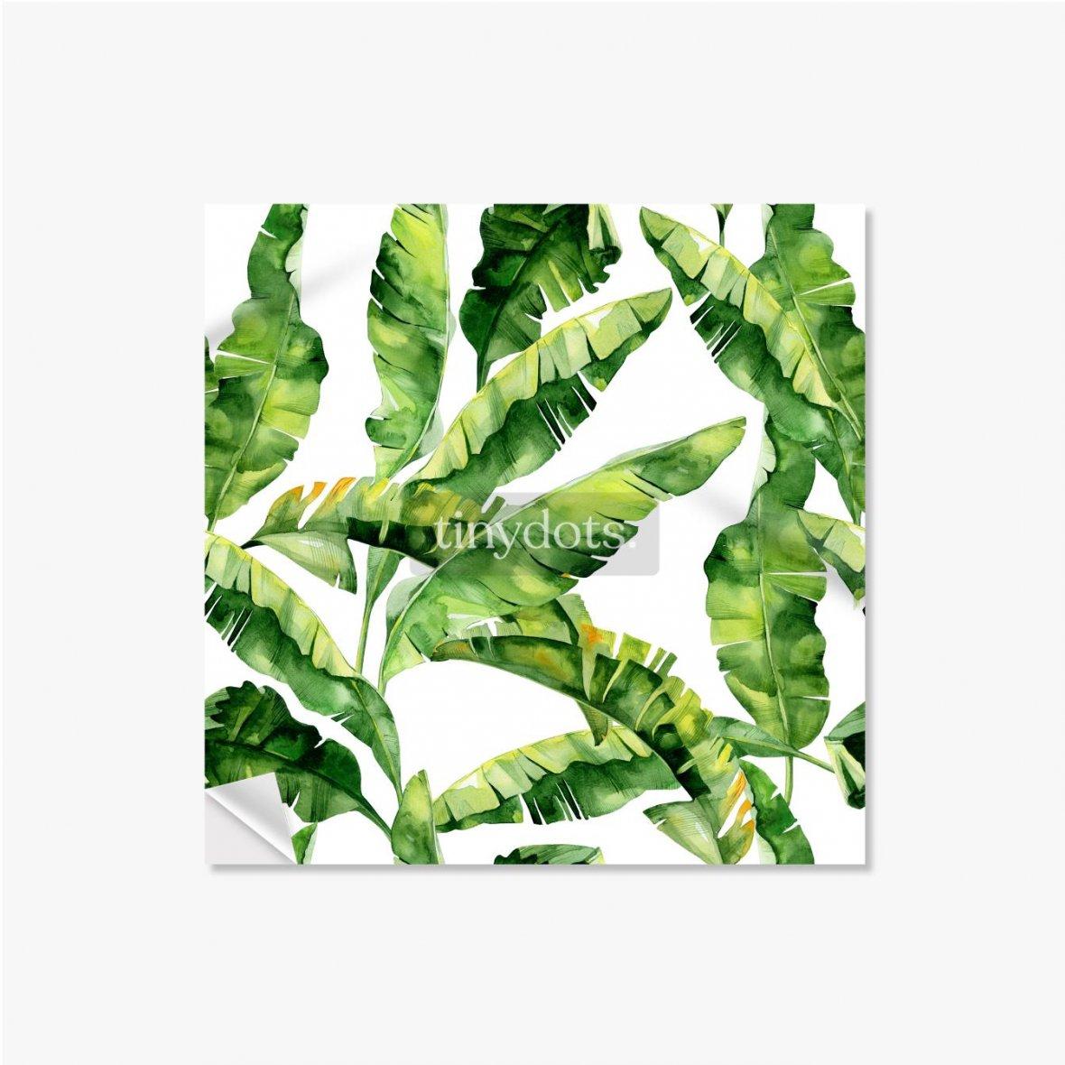 Selbstklebende Poster Tropische Monsterblätter
