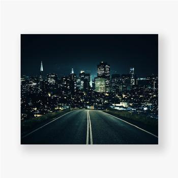 Poster Straße zur Nachtstadt