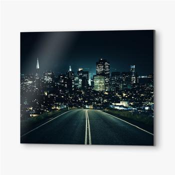 Bilder auf Alu-Dibond Straße zur Nachtstadt