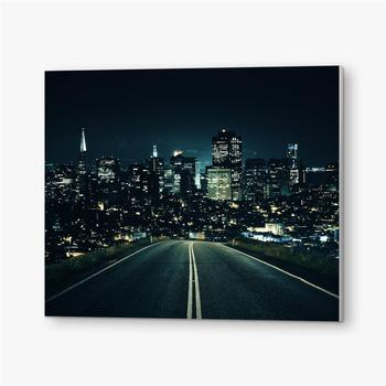 Bilder auf PVC Straße zur Nachtstadt