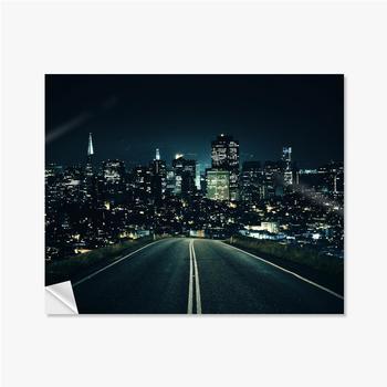 Selbstklebende Poster Straße zur Nachtstadt