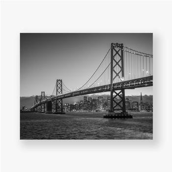 Poster Bay Bridge Schwarz und Weiß
