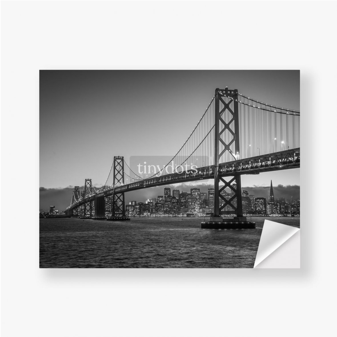 Aufkleber Bay Bridge Schwarz und Weiß