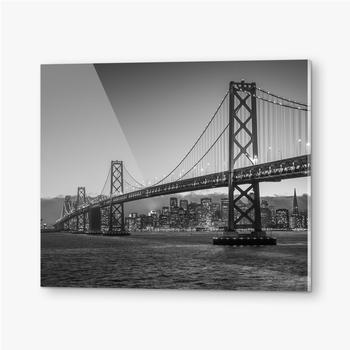 Bilder auf Acrylglas Bay Bridge Schwarz und Weiß