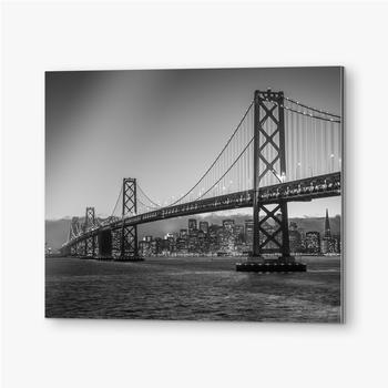 Bilder auf Alu-Dibond Bay Bridge Schwarz und Weiß