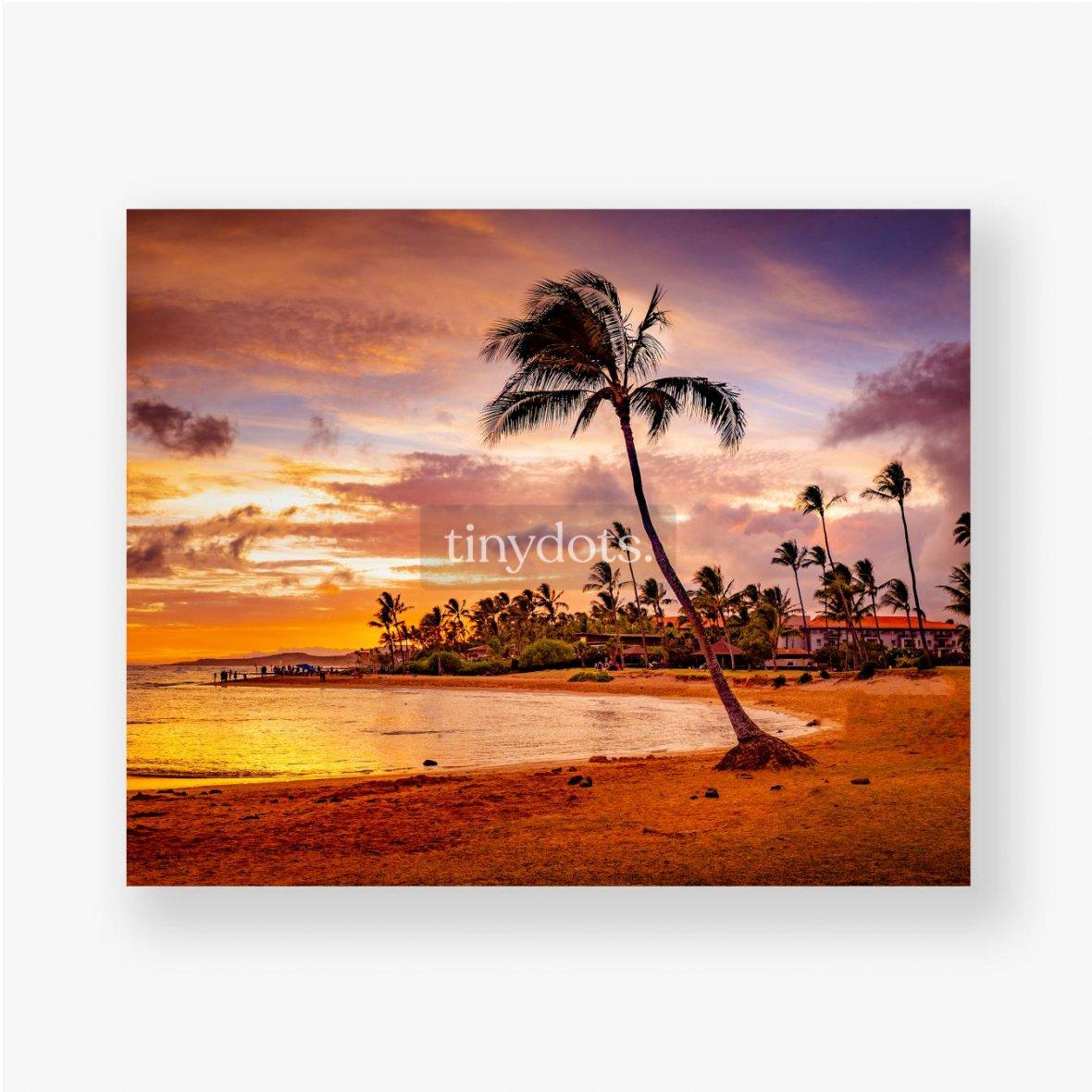 Poster Der Sonnenuntergang des Meeres in Hawaii