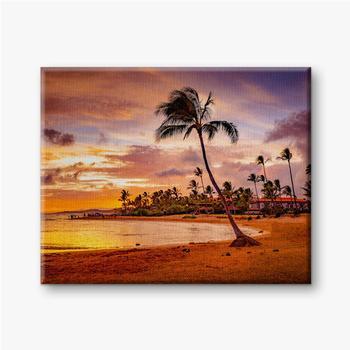 Der Sonnenuntergang des Meeres in Hawaii