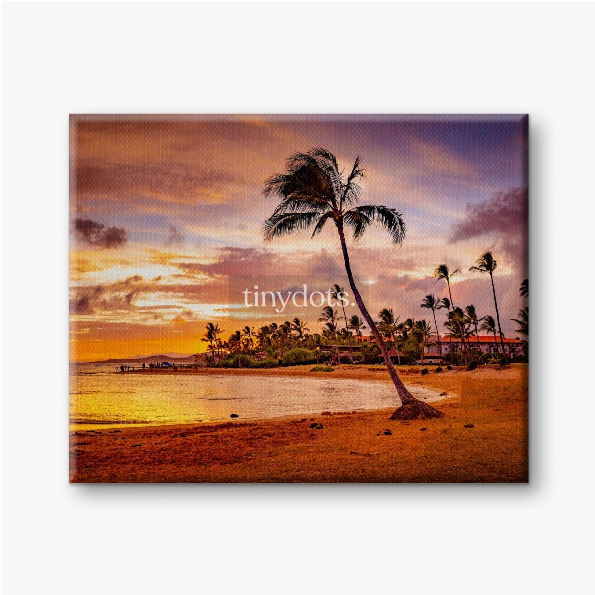 Leinwandbilder Der Sonnenuntergang des Meeres in Hawaii