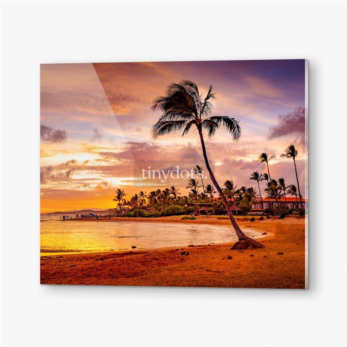 Bilder auf Acrylglas Der Sonnenuntergang des Meeres in Hawaii