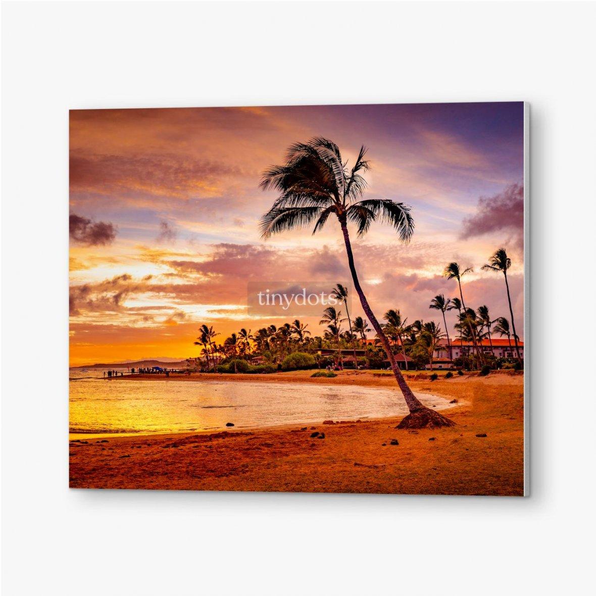 Bilder auf PVC Der Sonnenuntergang des Meeres in Hawaii
