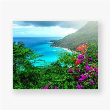Poster Herrliche karibische Landschaft