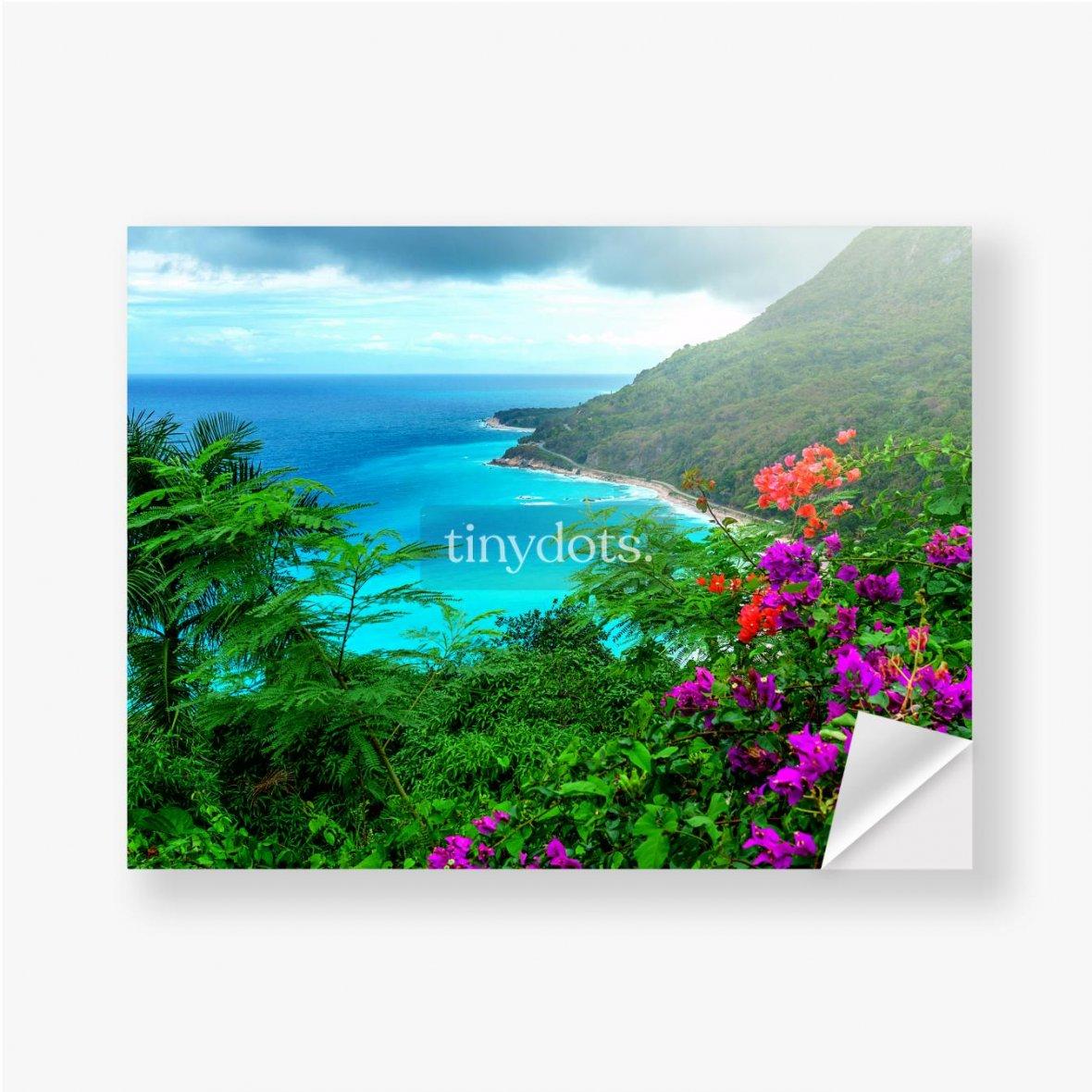 Aufkleber Herrliche karibische Landschaft
