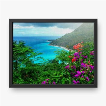 Gerahmte Leinwandbilder Herrliche karibische Landschaft