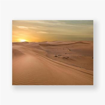Poster Sand Dessert Sonnenuntergang Landschaftsansicht
