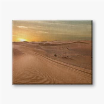 Sand Dessert Sonnenuntergang Landschaftsansicht