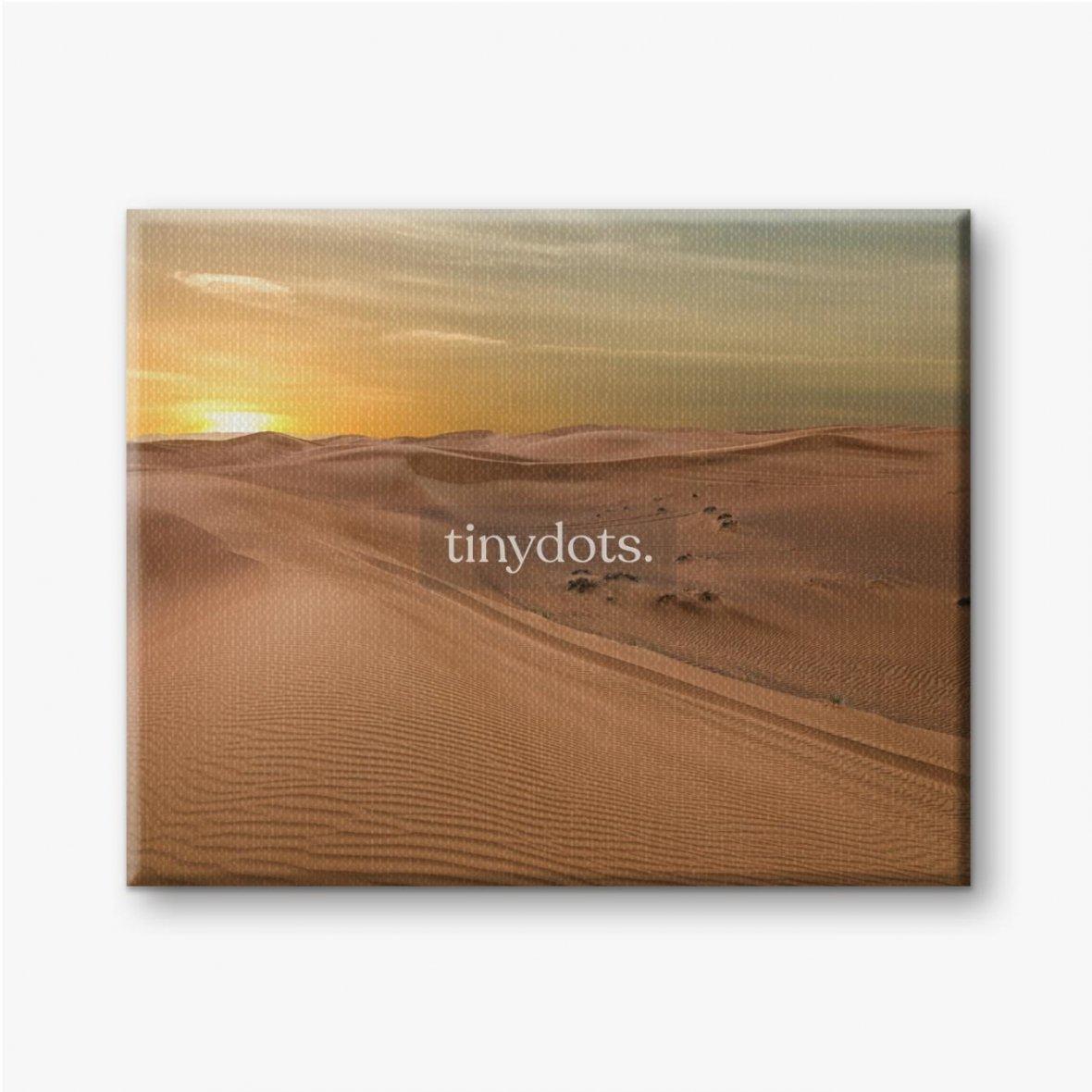 Leinwandbilder Sand Dessert Sonnenuntergang Landschaftsansicht