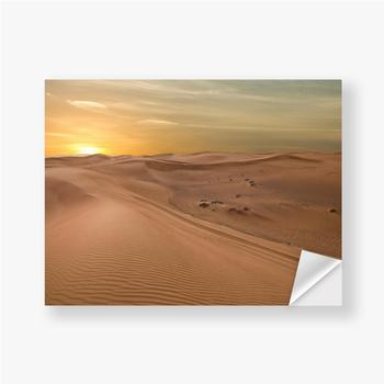 Aufkleber Sand Dessert Sonnenuntergang Landschaftsansicht