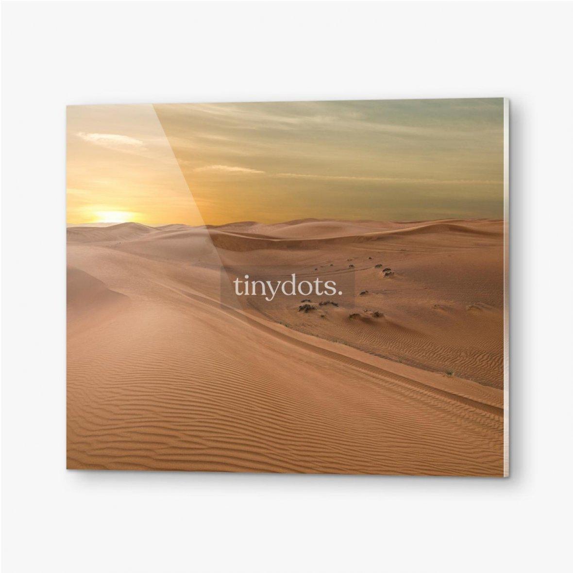 Bilder auf Acrylglas Sand Dessert Sonnenuntergang Landschaftsansicht