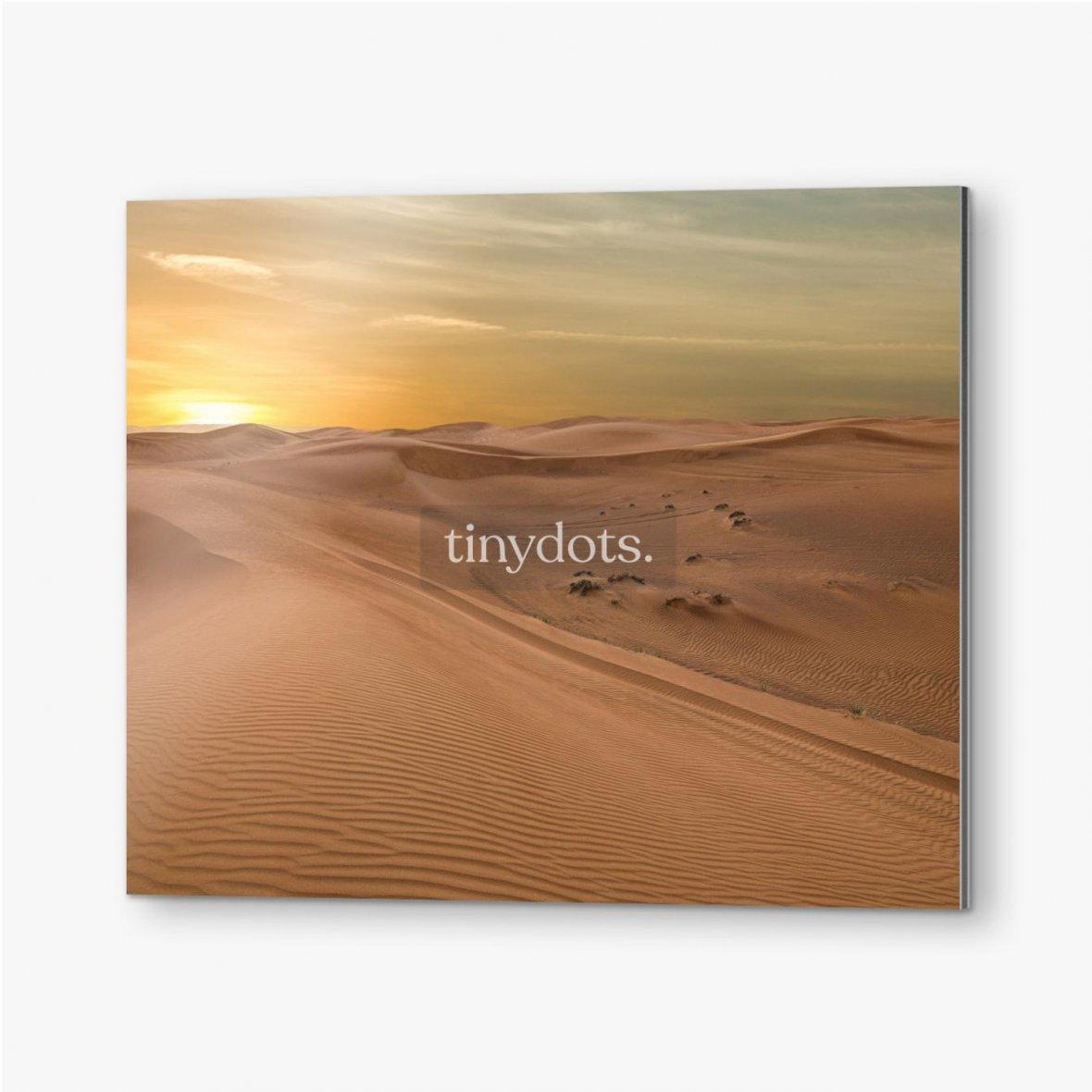 Bilder auf Alu-Dibond Sand Dessert Sonnenuntergang Landschaftsansicht