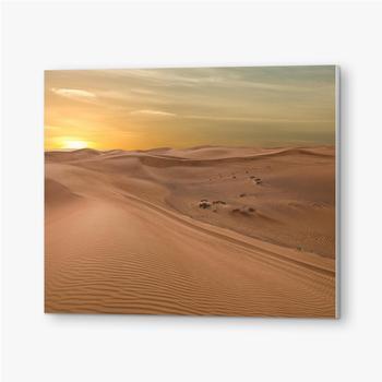Bilder auf PVC Sand Dessert Sonnenuntergang Landschaftsansicht