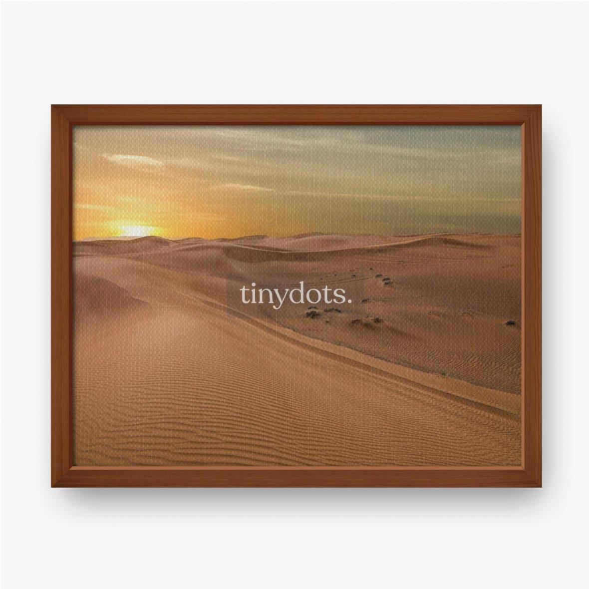 Gerahmte Leinwandbilder Sand Dessert Sonnenuntergang Landschaftsansicht