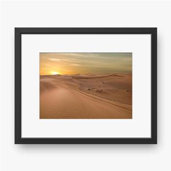 Gerahmte Poster Sand Dessert Sonnenuntergang Landschaftsansicht