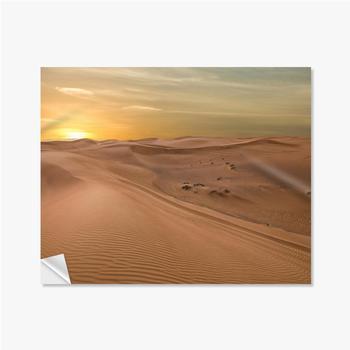 Selbstklebende Poster Sand Dessert Sonnenuntergang Landschaftsansicht