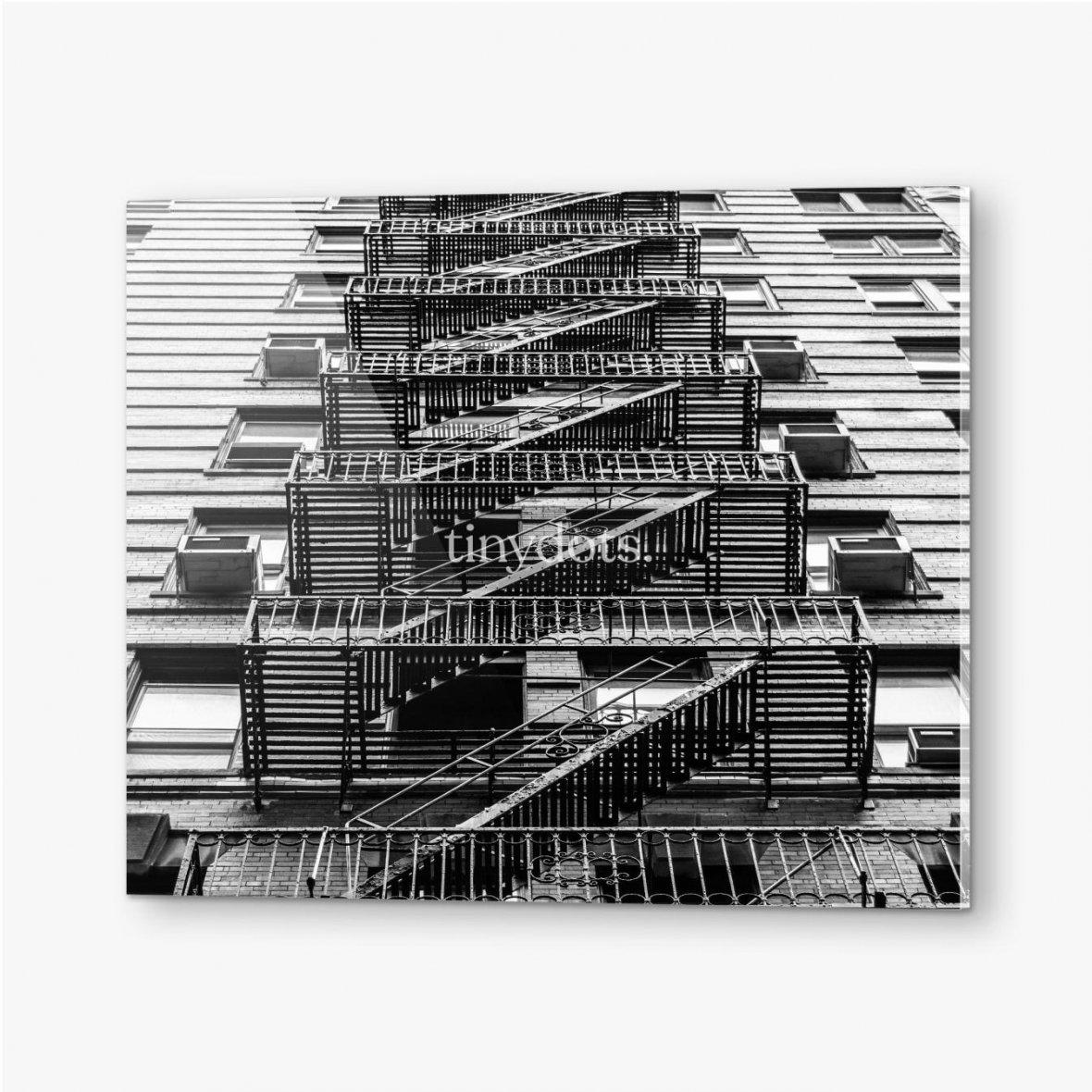 Bilder auf Acrylglas Feuertreppen in New York City