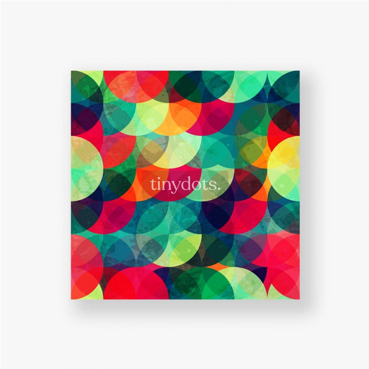 Poster Buntes kreisförmiges nahtloses Muster mit Grunge-Effekt