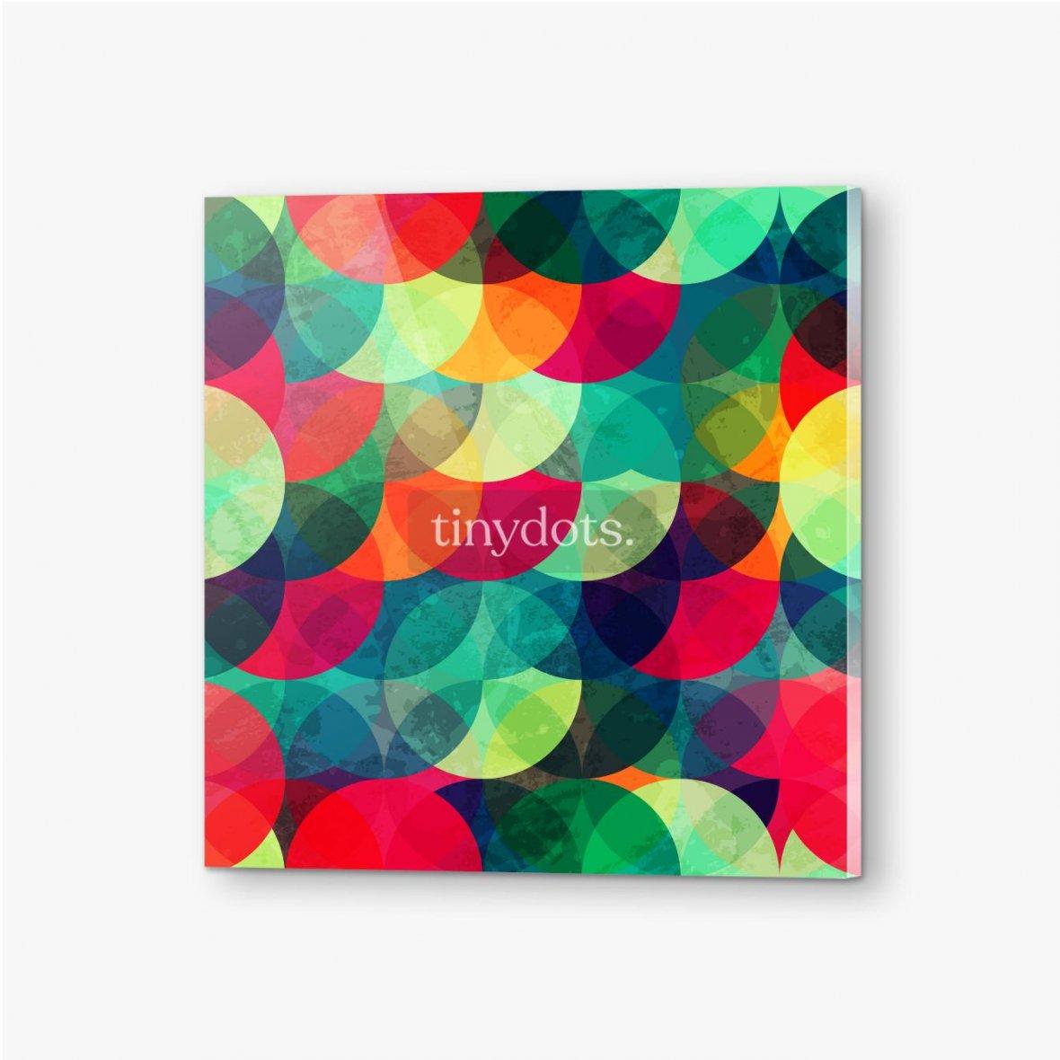 Bilder auf Acrylglas Buntes kreisförmiges nahtloses Muster mit Grunge-Effekt