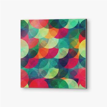Bilder auf Alu-Dibond Buntes kreisförmiges nahtloses Muster mit Grunge-Effekt