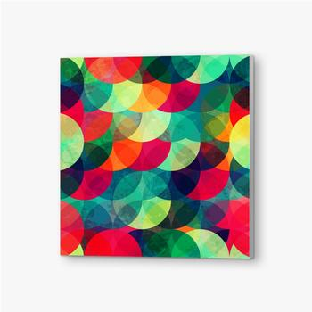 Bilder auf PVC Buntes kreisförmiges nahtloses Muster mit Grunge-Effekt