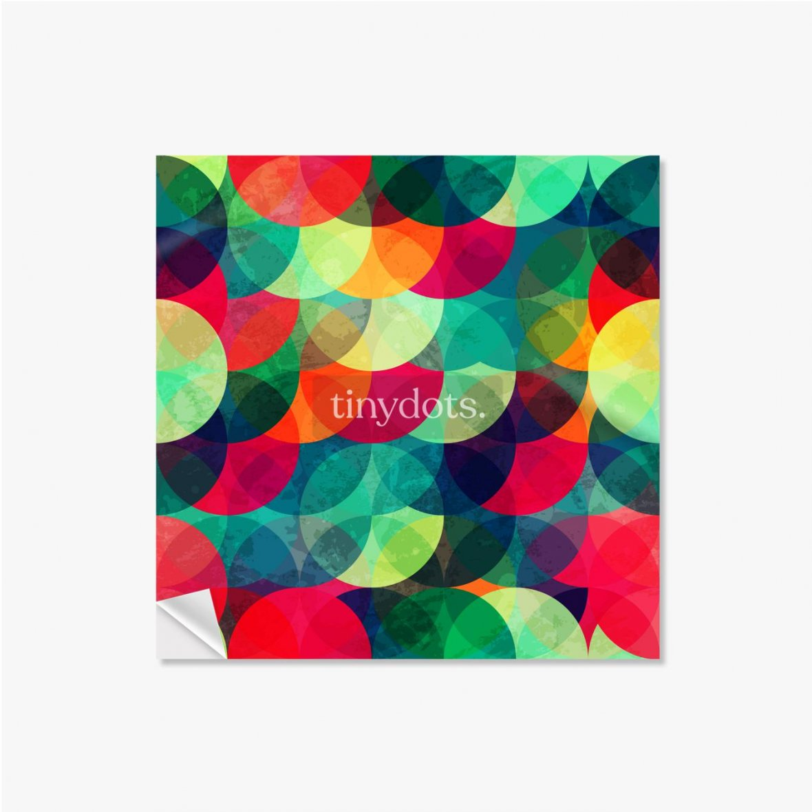 Selbstklebende Poster Buntes kreisförmiges nahtloses Muster mit Grunge-Effekt