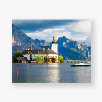 Poster Gmunden Schloss Ort, Österreich