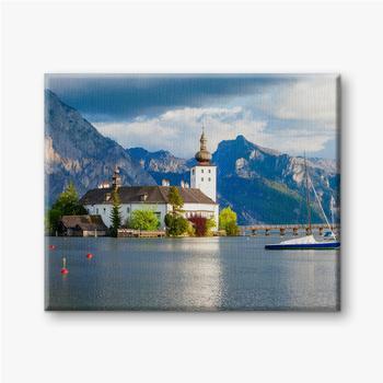 Leinwandbilder Gmunden Schloss Ort, Österreich