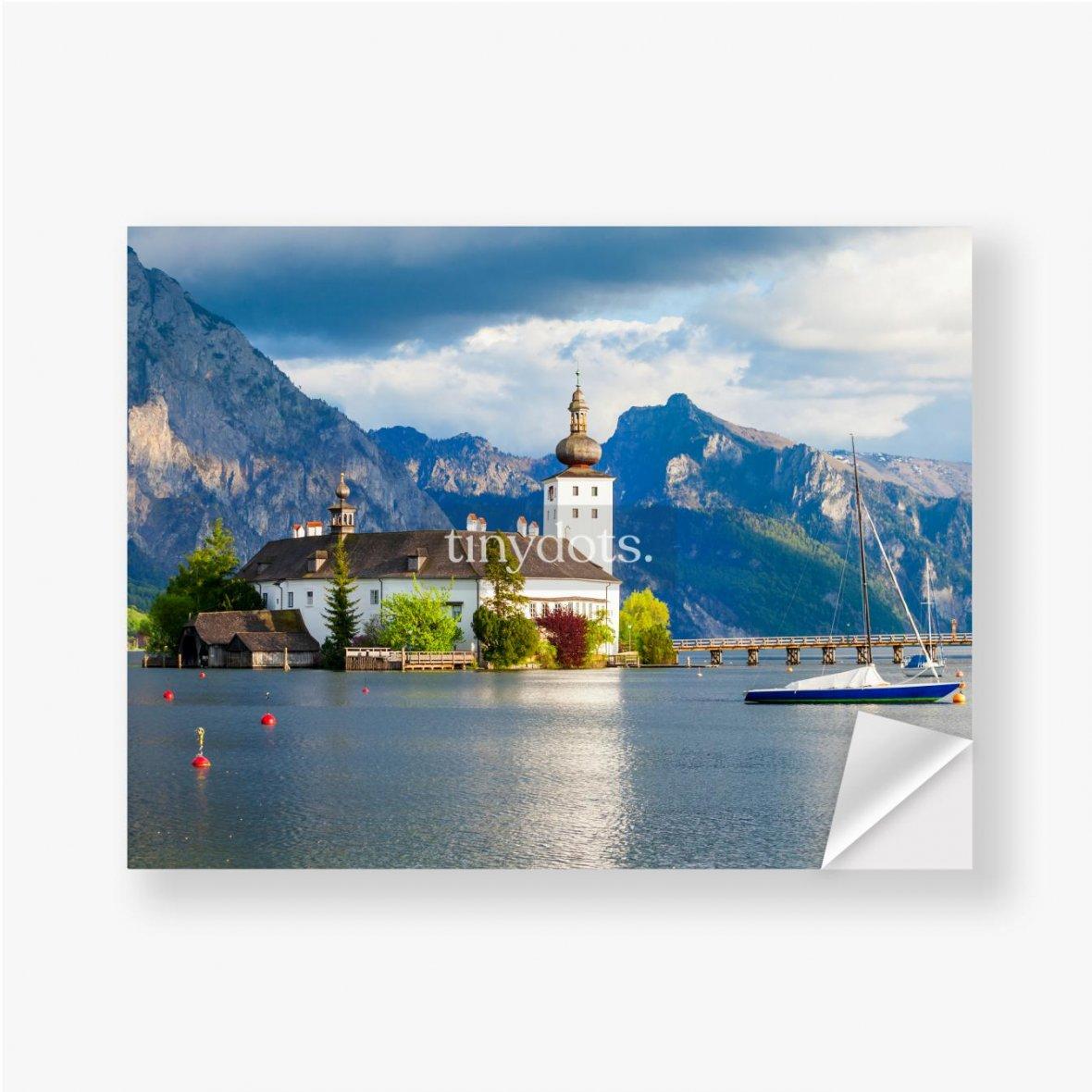Aufkleber Gmunden Schloss Ort, Österreich