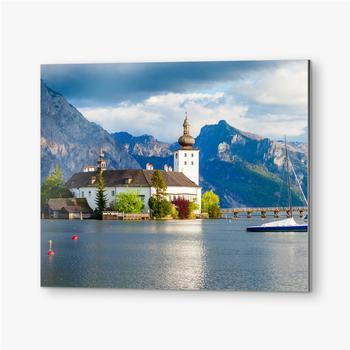 Bilder auf Alu-Dibond Gmunden Schloss Ort, Österreich