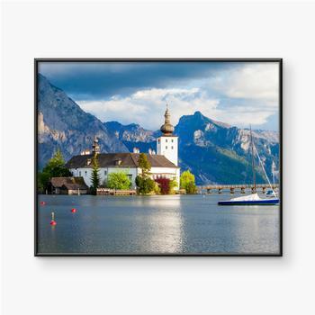 Gerahmte Poster Gmunden Schloss Ort, Österreich