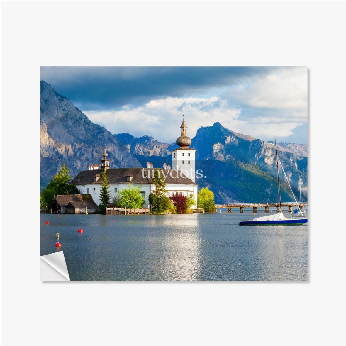 Selbstklebende Poster Gmunden Schloss Ort, Österreich