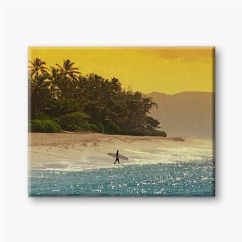 Leinwandbilder Surfer am Strand in Hawaii